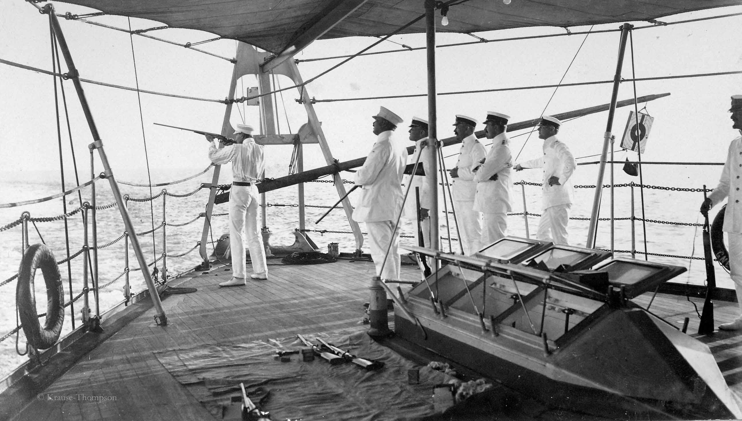Crown Prince Wilhelm shooting seagulls