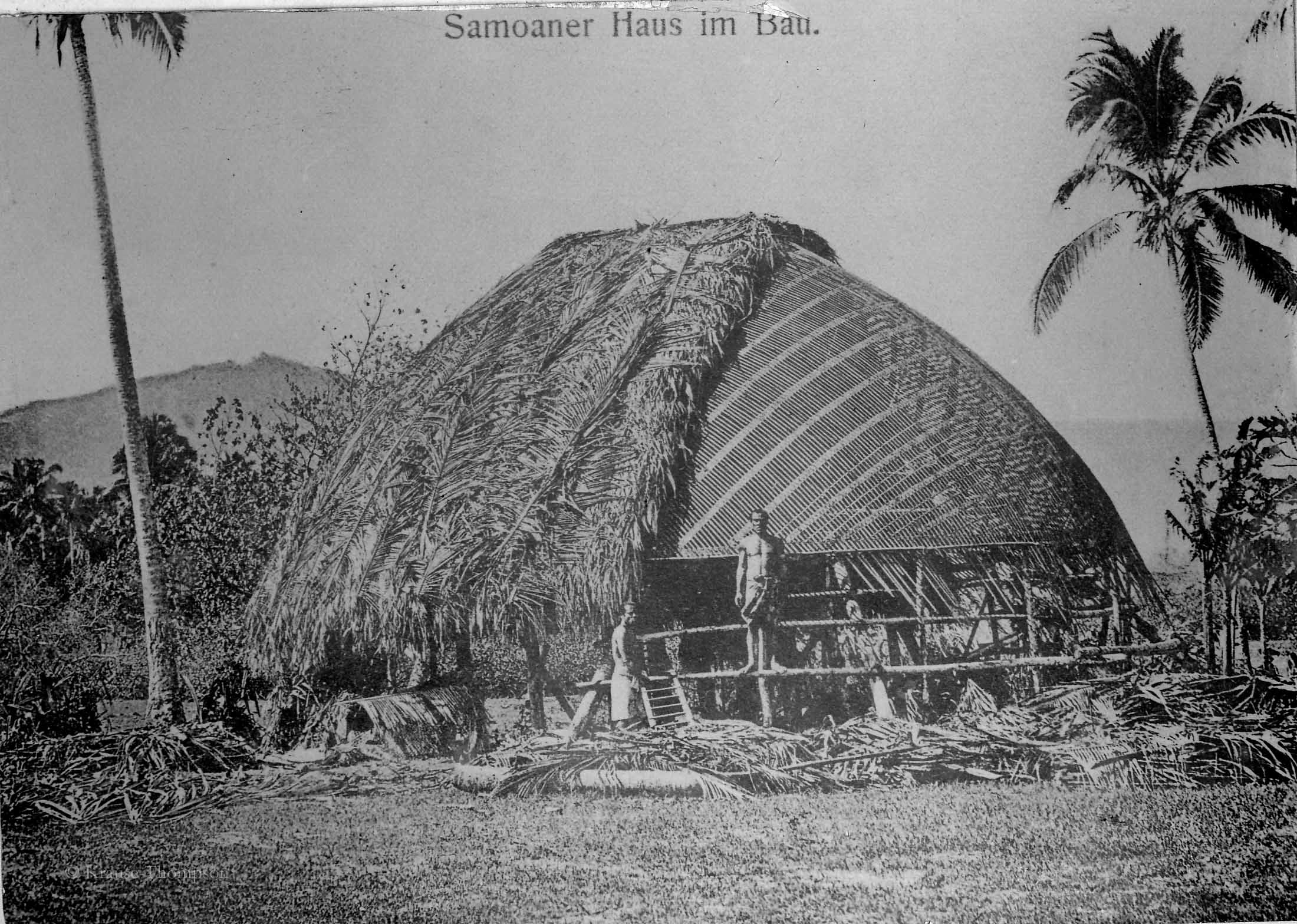 Samoan house under construction