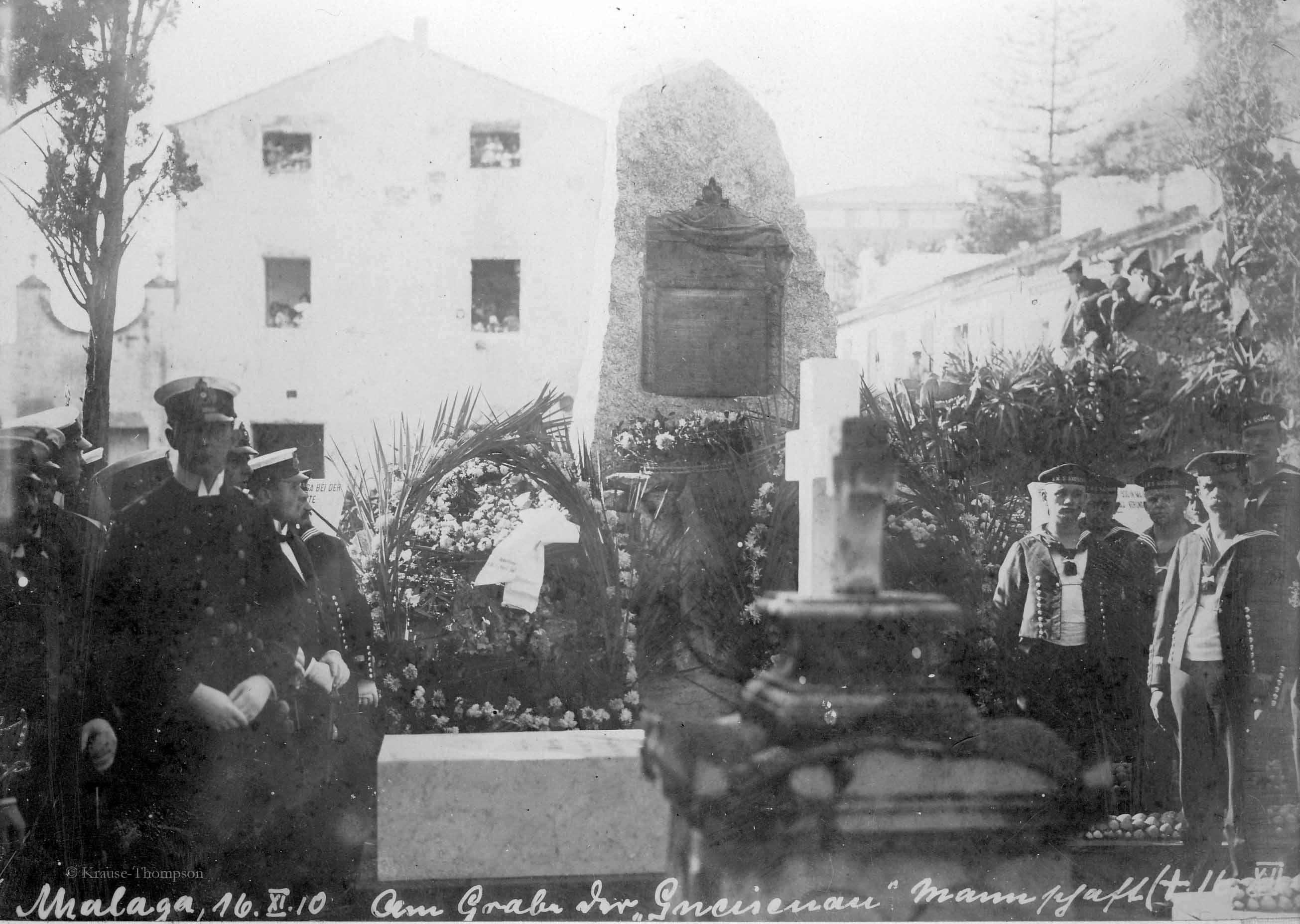 Nov-16-1910 at grave of Gneisenau crew