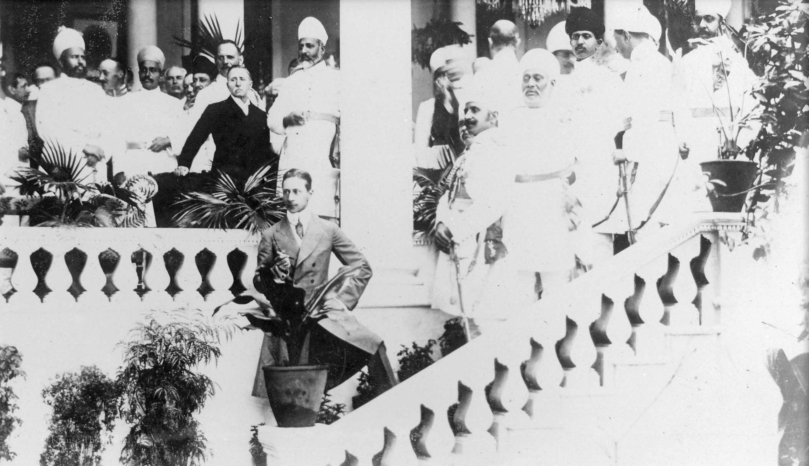 Crown Prince Wilhelm with Indian dignataries