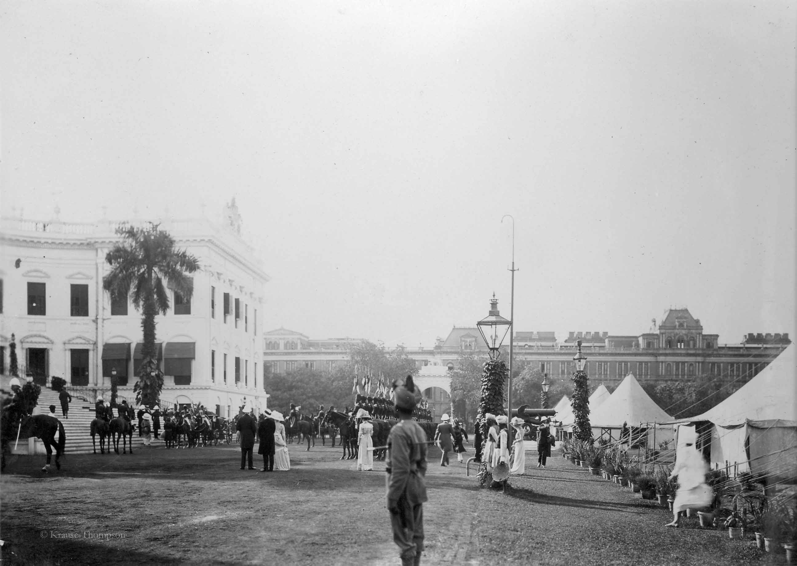 Arrival of prince at Calcutta viceroy palace