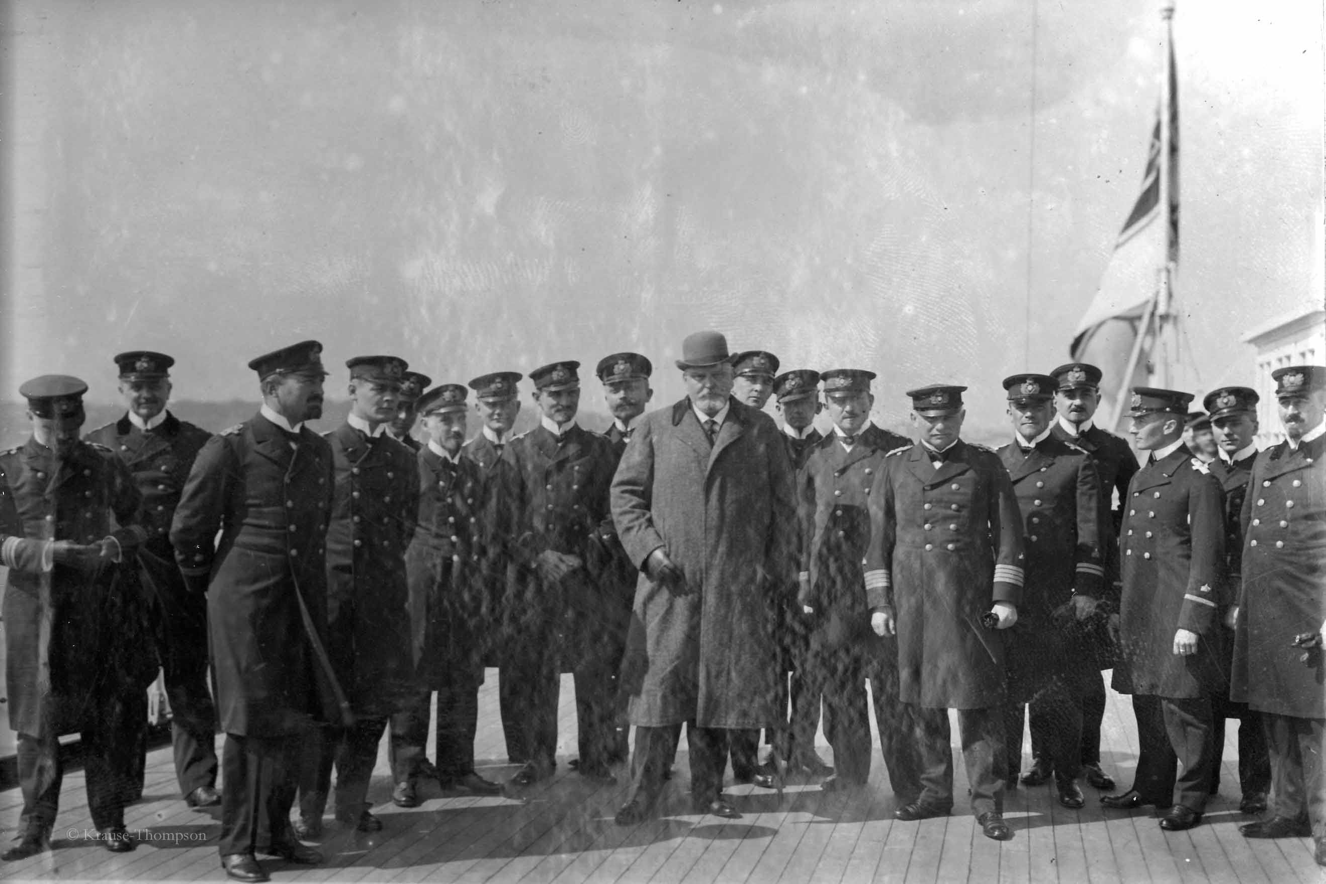 Ambassador Arthur von Rex with the officers of SMS Gneisenau