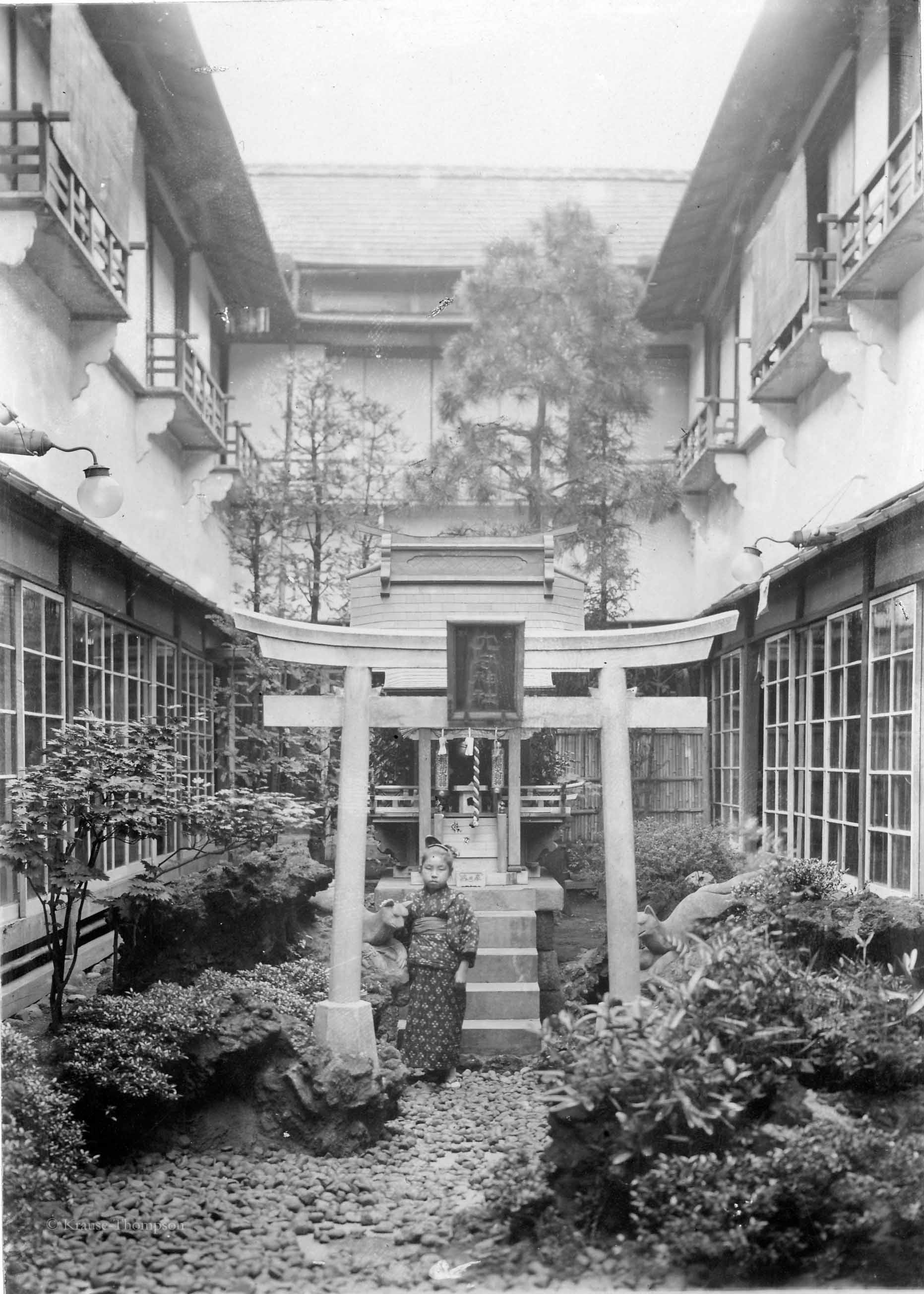 Courtyard of Japanese house